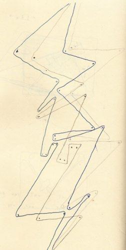 no title - David Scher, Untitled (For Clarinet 2), ink on paper