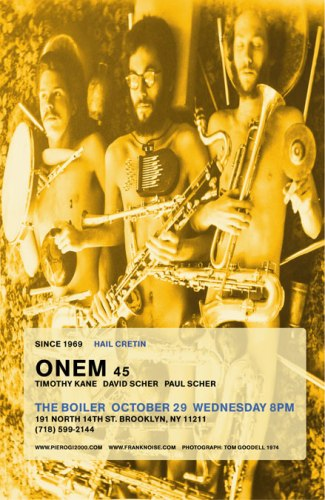 no title - ONEM at 45 Performance Event Poster