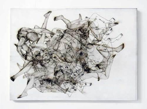 Jonathan Schipper - Laser engraving on paper