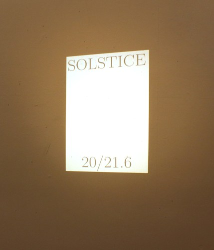 "Dexter Sinister - Destruction of ""Solstice,"" 2015, Slide projection c. 2013, Running continuously"