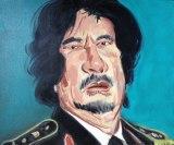 "no title - Jonathan Grossmalerman, ""Gaddafi,"" Acrylic on canvas"