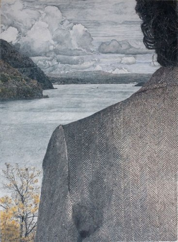 View from West Point - 2009, colored pencil on rag paper, 41 x 30 inches
