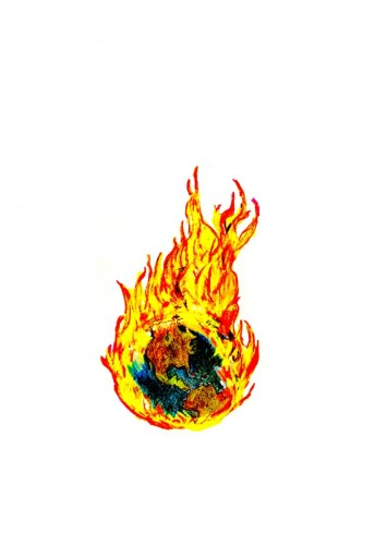 "Jude Tallichet - ""world on fire"" * *will be printed small-scale, like a logo, above the heart"