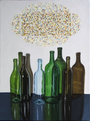 "Lynn Talbot - ""We Are Bottles We Are Not Sand,"" 2013, Oil on linen, 16 x 12 inches"