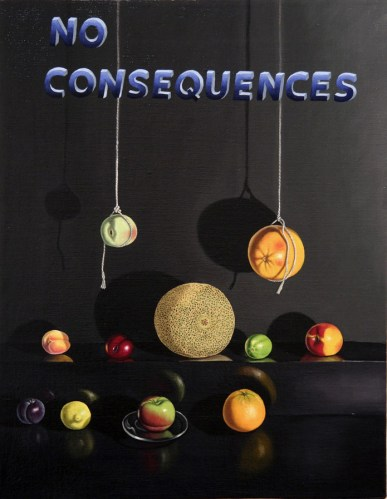 No Consequences - 2011, oil on linen, 14 x 18 inches