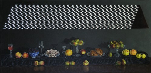 Overhead - 2011, oil on linen, 28 x 14 inches
