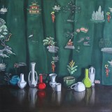 "Lynn Talbot - ""Still Life with Chinoiserie,"" 2010, Oil on linen, 20 x 20 inches"