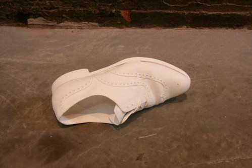 Shoe - Cast architectural stone, edition of 3