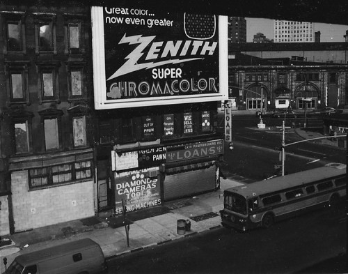 Brooklyn Zenith - 1971-1972. Black and white photograph. Collection of the artist.