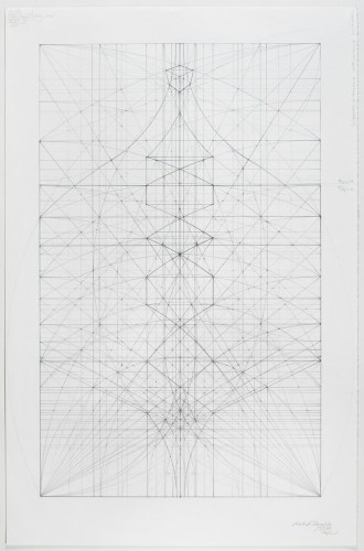 "Mark Reynolds - ""The 1.111 Series: 5.5.14,"" 2014, Graphite on cotton paper, 23.0625 x 15 inches"