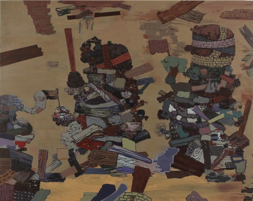 The Veterans - 2012, Acrylic on wood panel, 42 x 53 inches