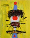 Clown 19 - Acrylic on panel, 13.75 x 11.75 inches