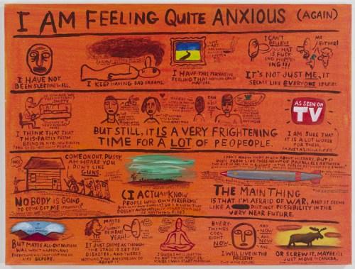 "Jim Torok - ""I Am Feeling Quite Anxious Again,"" 2016, Acrylic on Canvas, 36 x 48 inches"