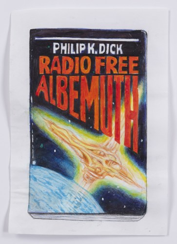 "Jim Torok - ""Radio Free Albemuth,"" 2015, Ink and Colored Pencil on Paper, 8 3/8 x 5 7/8 inches"