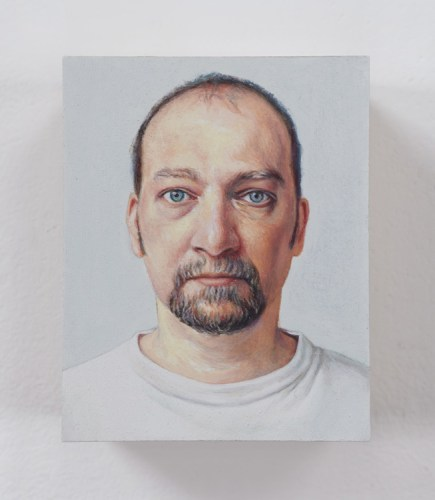 "Jim Torok - ""Self Portrait #2,"" 2003, Oil on polymer resin, 5 x 3 7/8 x 1 inches"