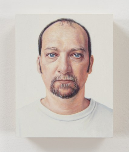 "Jim Torok - ""Self-Portrait 4,"" 2003, Oil on polymer resin, 3.75 x 3 1/16 inches"