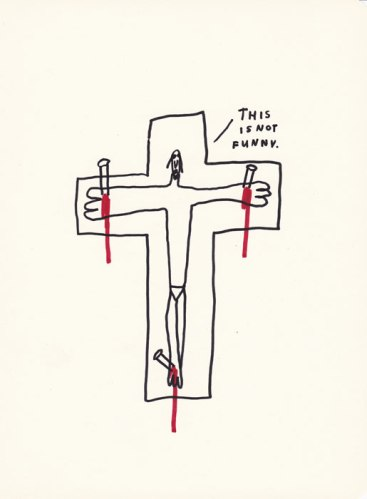 This Is Not Funny - 2013, Ink and colored pencil on paper, 10.75 x 8.5 inches