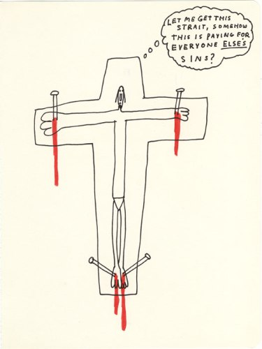 Everyone Else's Sins - 2013, Ink and colored pencil on paper, 9.75 x 7.5 inches