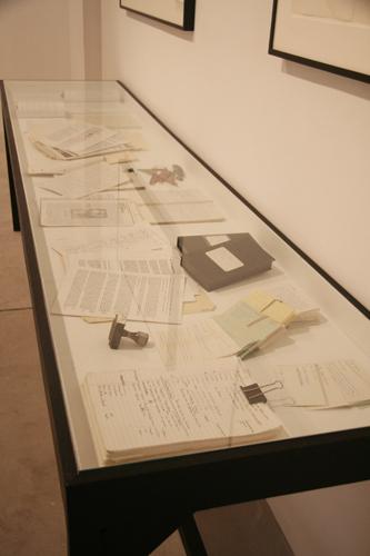 Vitrine of reference materials - no description