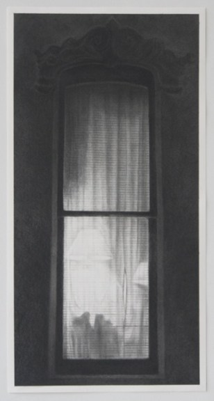 """Window 1 (Drawing for painting)"" 2014, Graphite on paper"