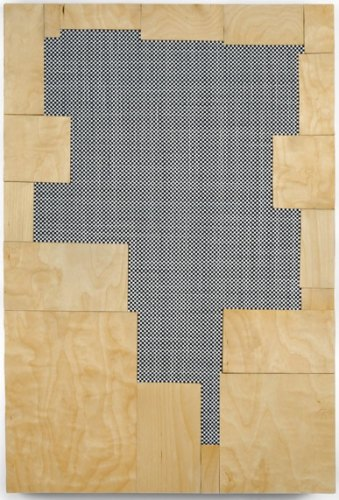 """Ken Weathersby - """"205,"""" 2012, Acrylic and graphite on linen, wood, 30 x 24 inches"""