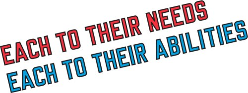 """Lawrence Weiner - """"EACH TO THEIR NEEDS EACH TO THEIR ABILITIES"""""""