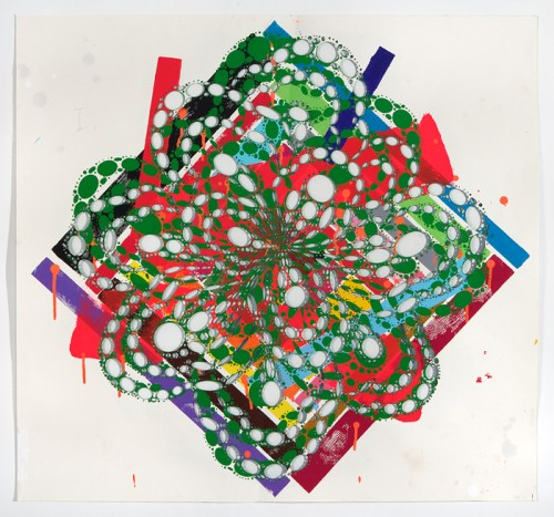 Winter Green - 2011, Acrylic on cut paper, 29 x 27 inches. Sold