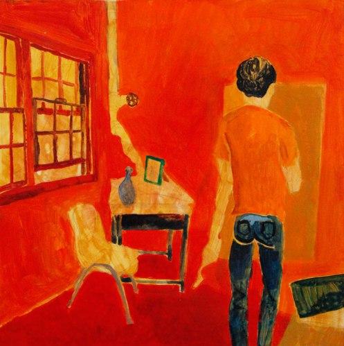 """Ye Ji - """"Peipei's Studio"""", 2013, Acrylic on Panel, 12 x 12 inches"""