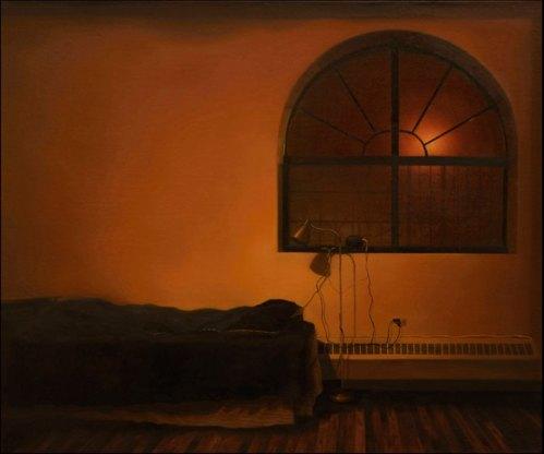 "Yongjae Kim - ""White Noise,"" 2013, Oil on linen, 28 x 23.5 inches"