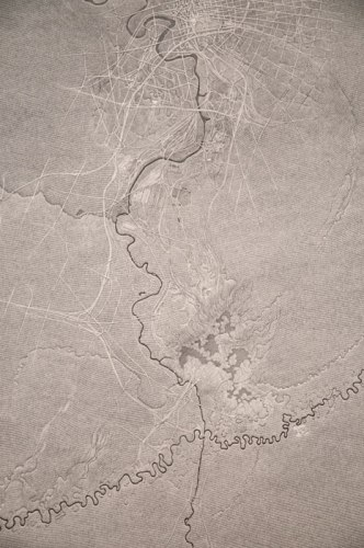 Juruá, Cuyahoga, Jackson (detail) - 2013, Graphite on paper mounted on panel, 50 x 70 inches
