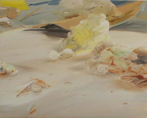 Pale Soggy Dream Melt - 2012, oil on linen, 18 x 24 inches.