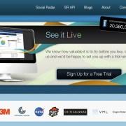 socialradar homepage