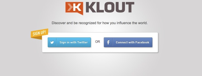 Klout homepage