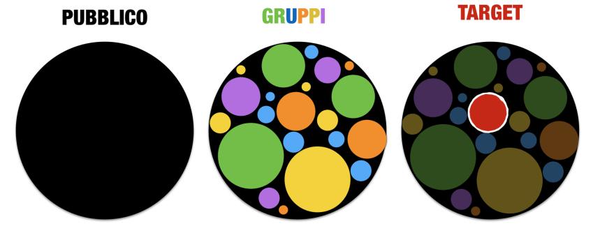 pubblico gruppi target