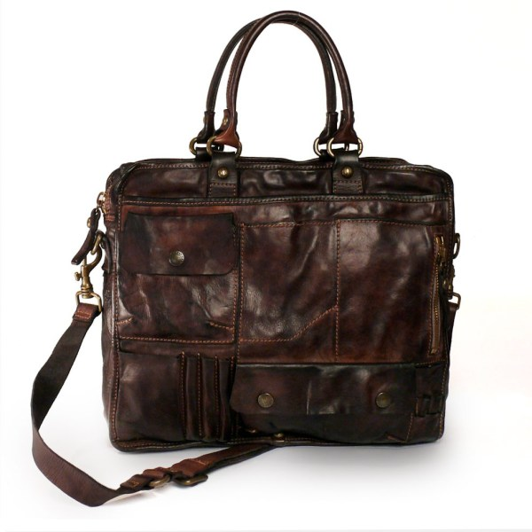 Campomaggi Washed Leather Business Bag - Of Stock