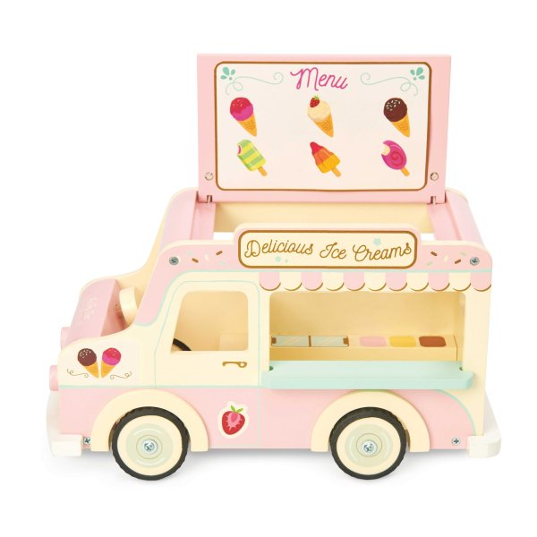 ME083-Ice-Cream-Van-Pink-Doll-House-Wooden-Toy-Menu