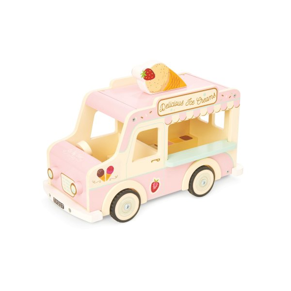 ME083-Ice-Cream-Van-Pink-Doll-House-Wooden-Toy
