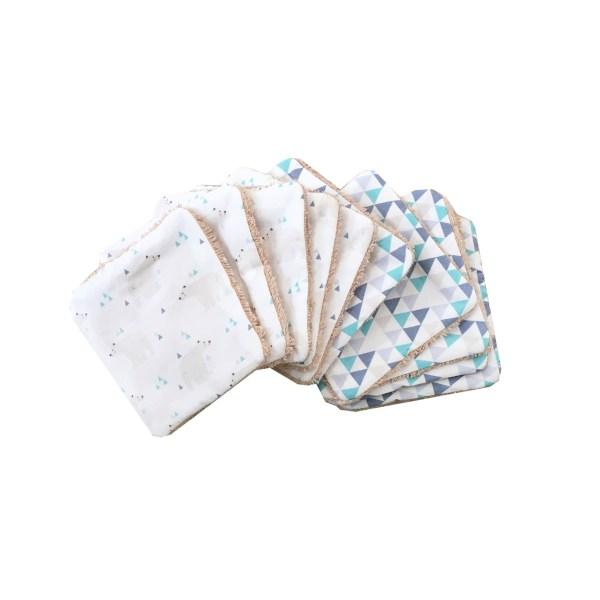 lot-de-10-lingettes-lavables-motif-ours-polaires-et-triangles-bleus-soin-bebe-carotte-cie