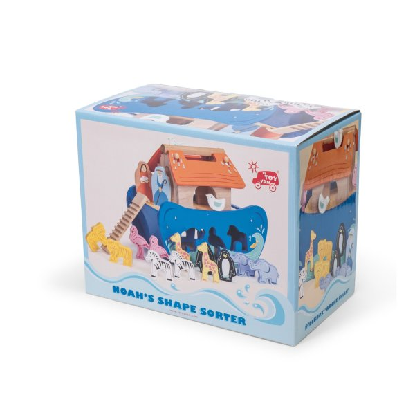 TV212-Wooden-Noah-Ark-Blue-Boat-Animal-Shape-Sorter-Packaging