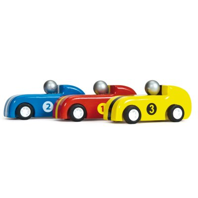 TV441-Pull-Back-Wooden-Race-Car-Red-Yellow-Blue