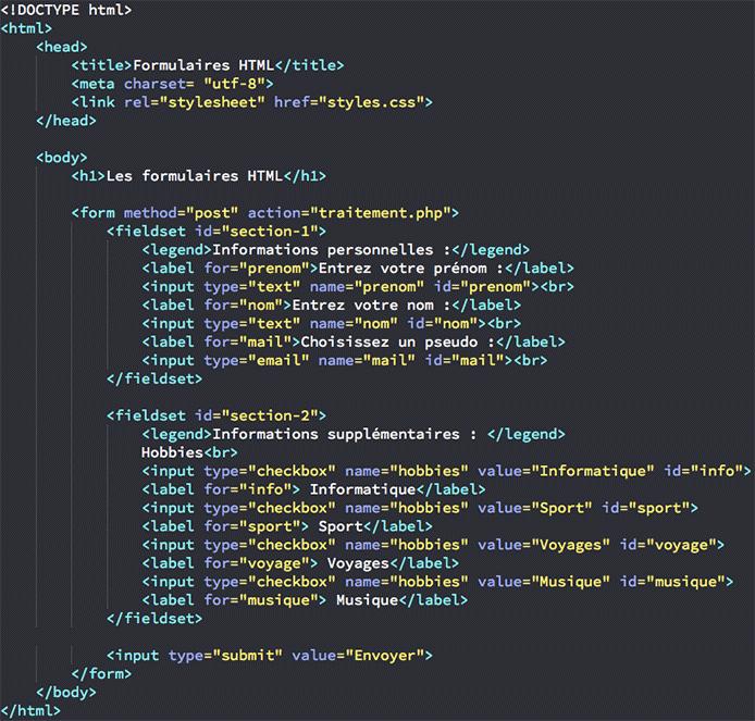 code cv html