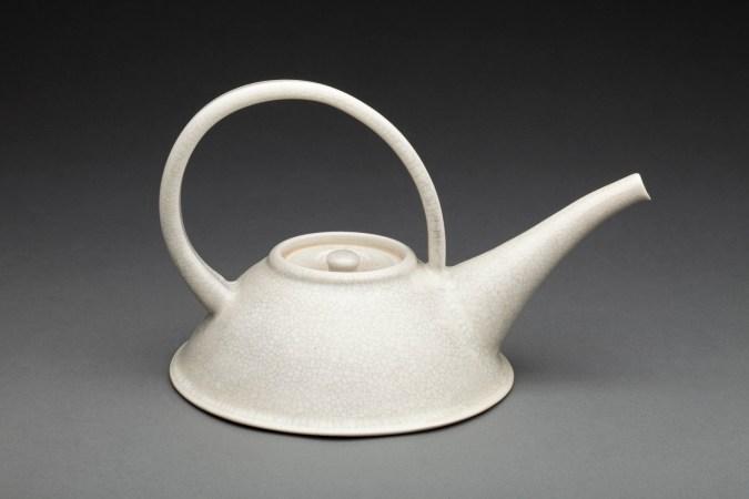 """A Wedding Gift"" Porcelain teapot"