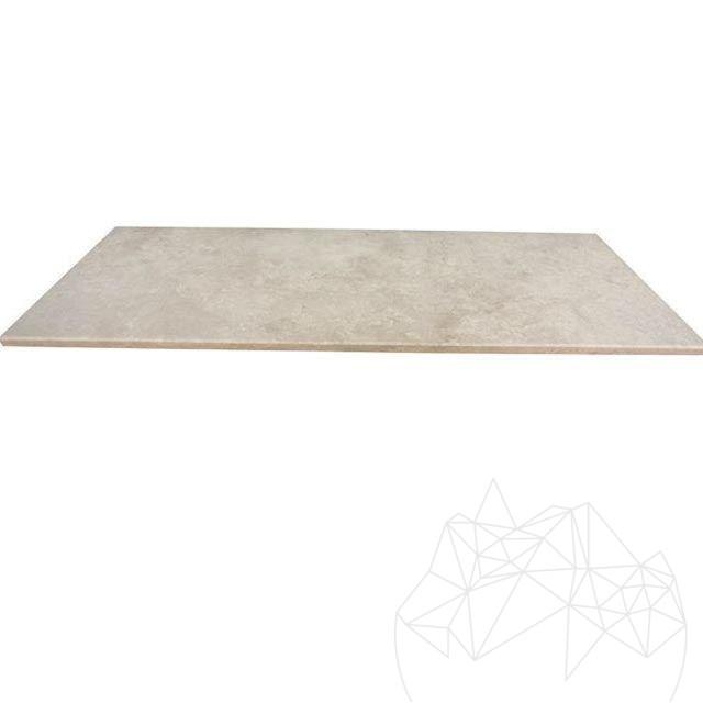 plan de travail en travertin classic poli 250 x 65 x 3 2 cm standard