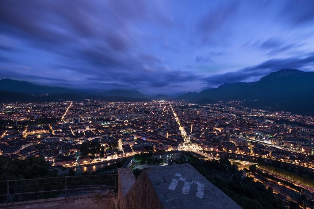 Grenoble de la Bastille | Paysage de nuit © Pierre ROLIN - Photographe Nancy - Lorraine / Grand Est