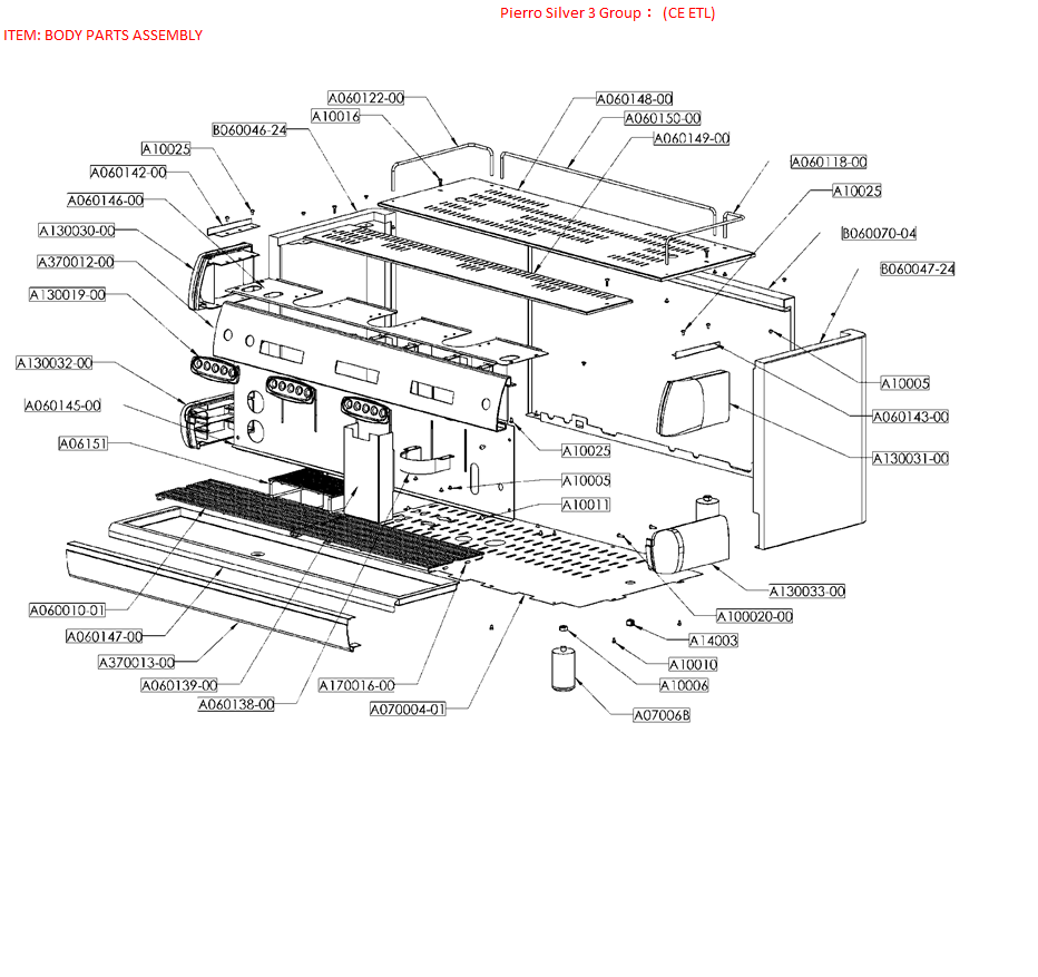 Espresso Machine Parts Diagram Espresso Machine Manual