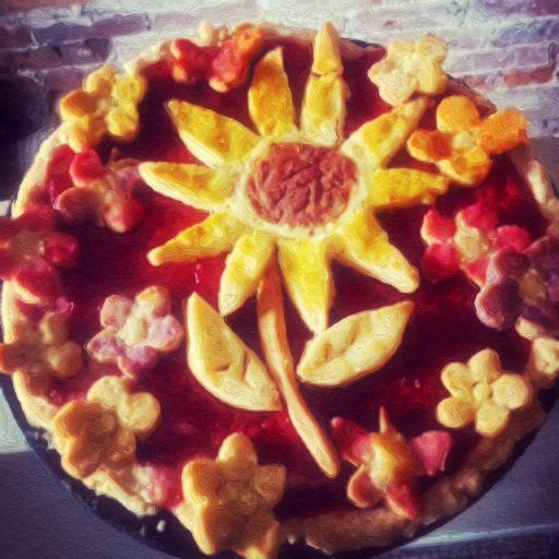 Sunflower Berry Cream Pie