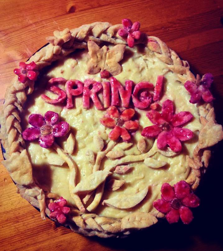 Maple Buttermilk Spring Pie