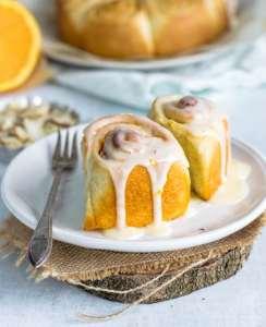 orange almond sweet rolls