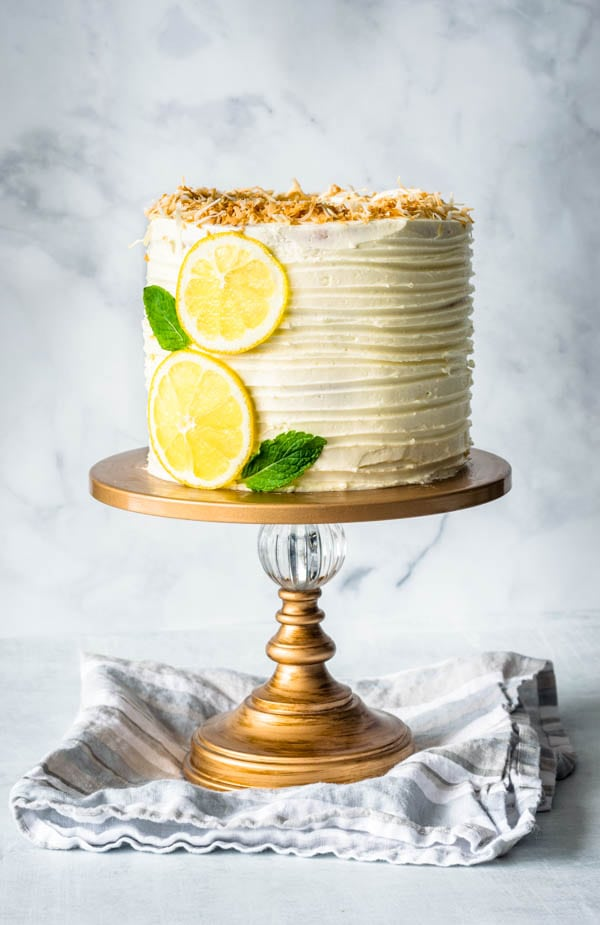 Lemon Coconut Layer Cake Pies And Tacos