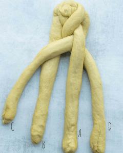 challah bread braiding